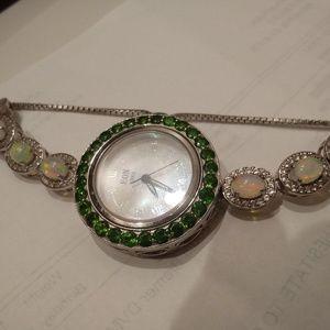 Opal and jade eon1962 watch